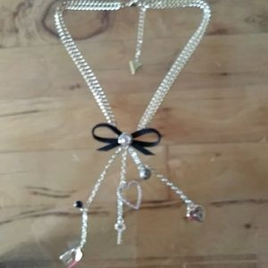 "GUESS NECKLACE 16"" 5 "" DROP"